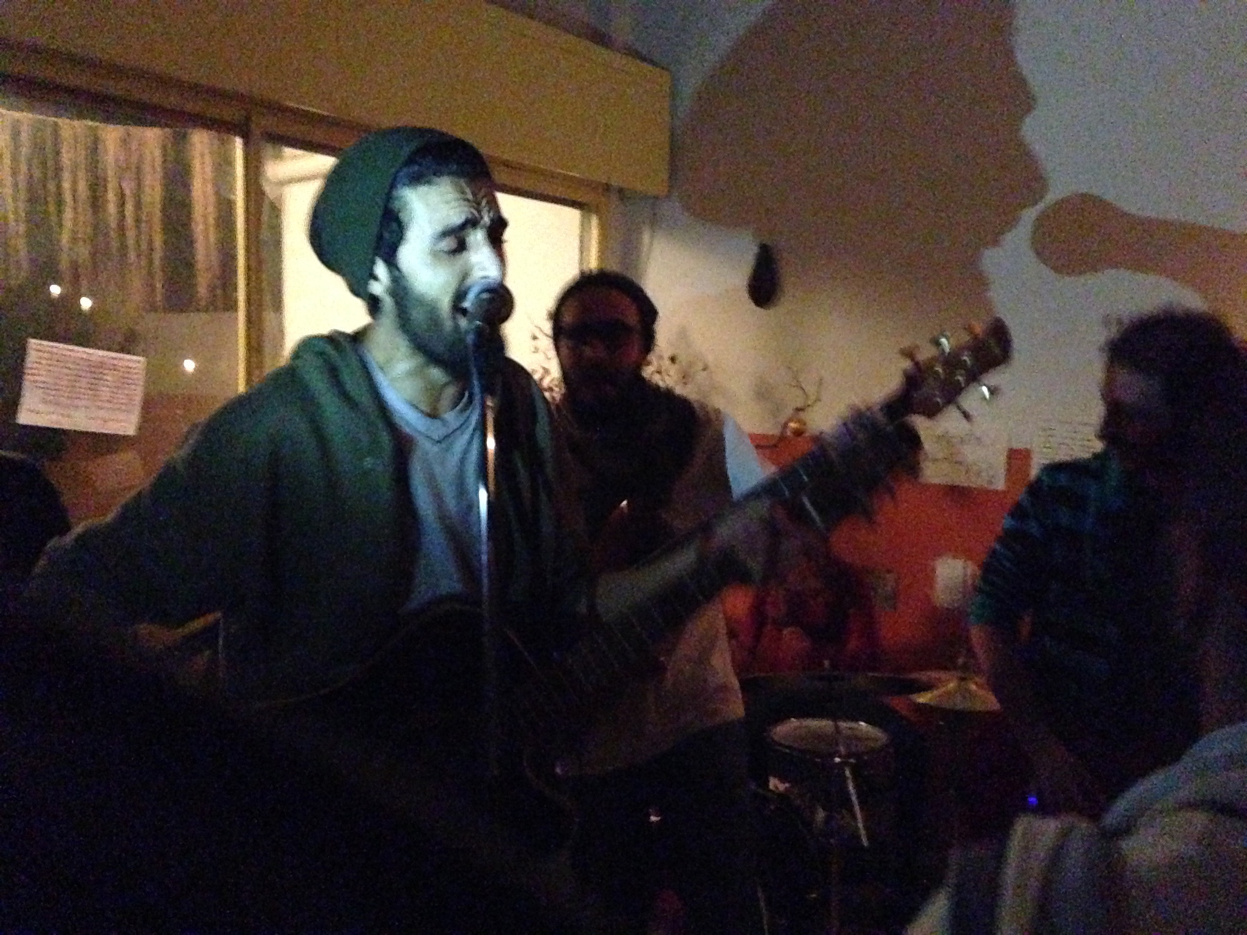 The Damascus band's debut gig at a Beirut party, 2013.
