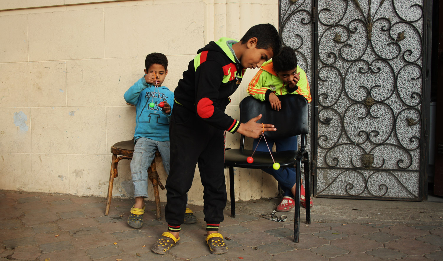 The game is widely known among Cairo's youngsters.