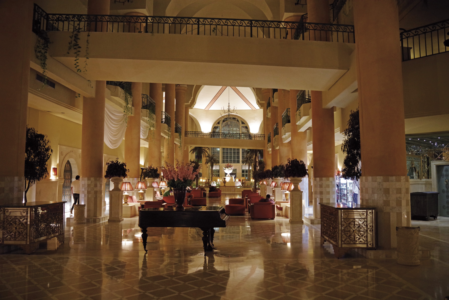 An interior view of the Regency Hotel, Tunis. The club is directly beside the hotel.