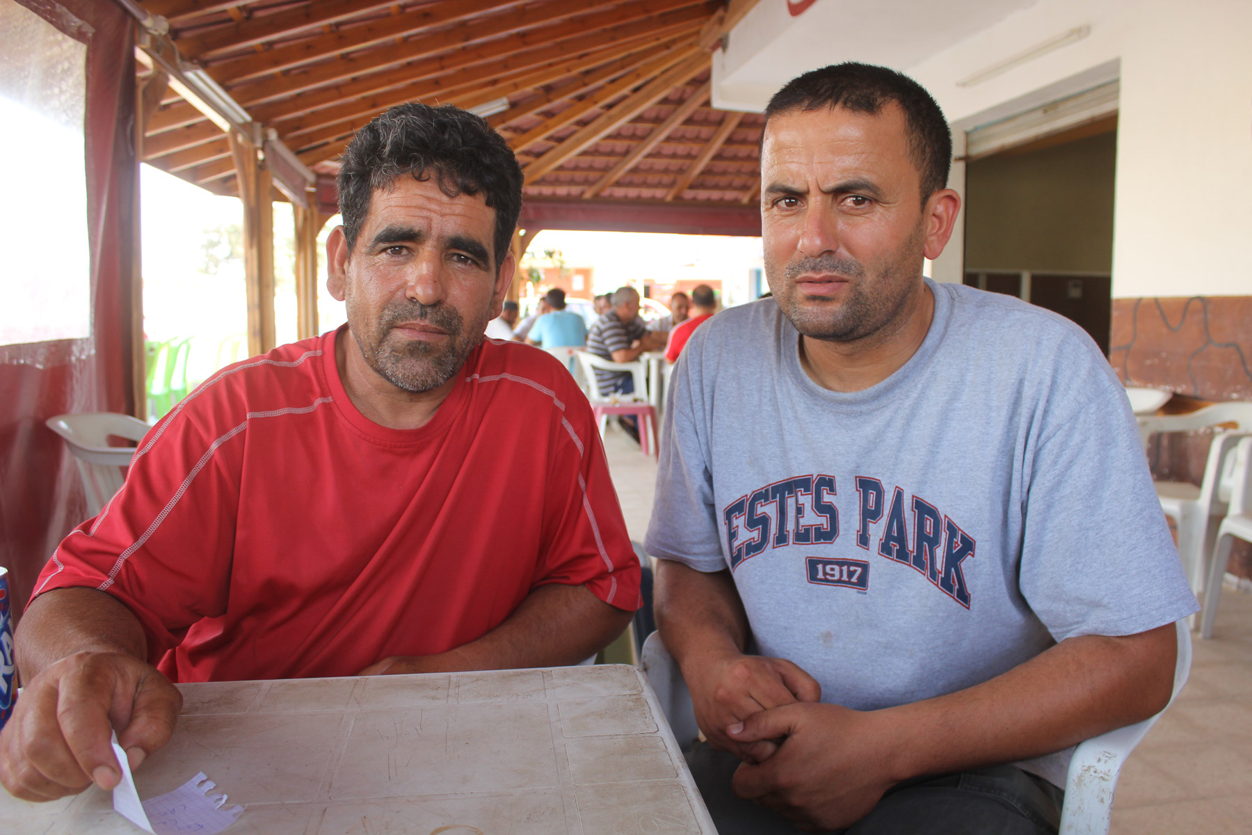 Two Libyan fuel smugglers in Ben Gardane, Tunisia.