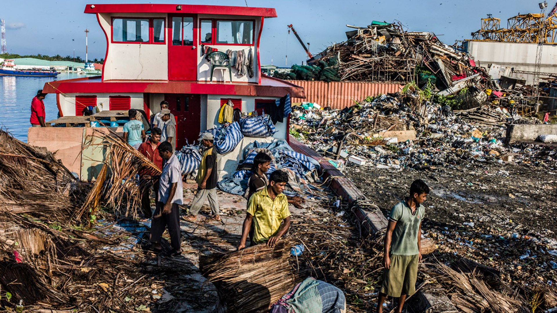 Bangladeshi labourers working in the Maldives