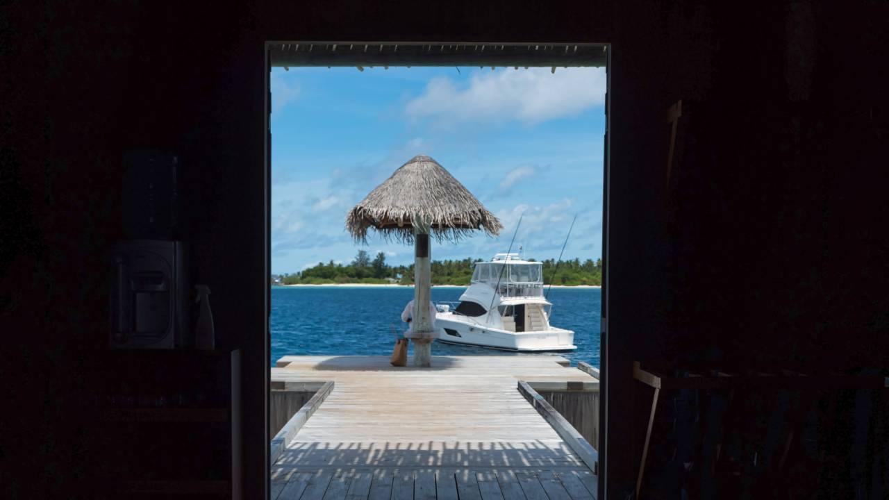 Hotel-Anlage auf den Malediven