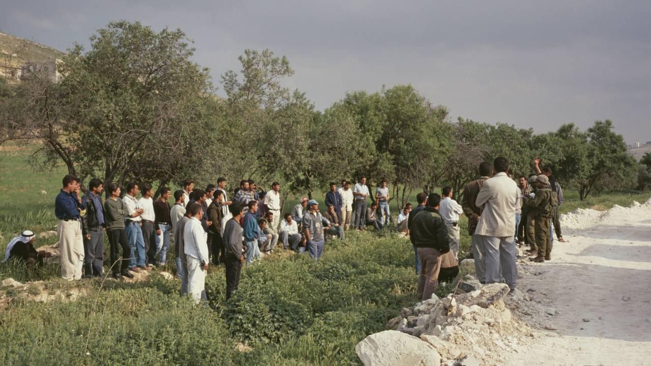 Foto-Ausstellung zum Checkpoint Qalandiya