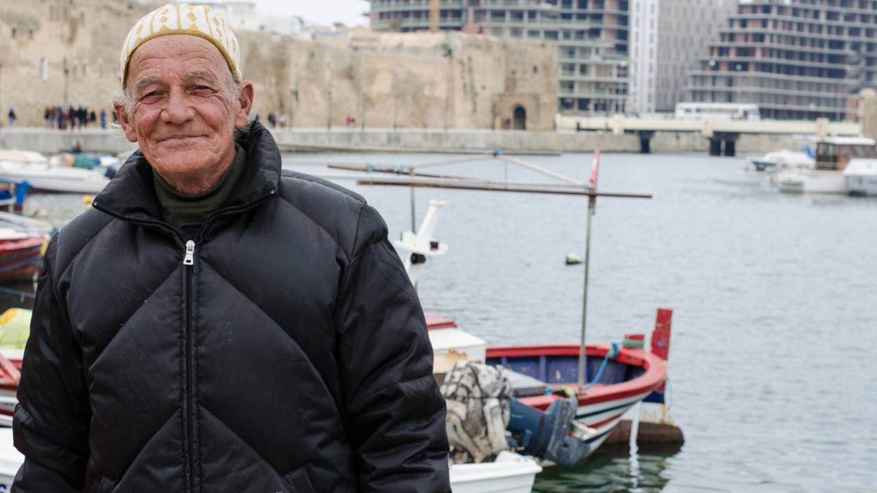 Hamdi Jaziri has been a fisherman in Bizerte for nearly 50 years.
