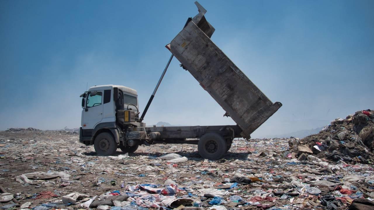 Deponie auf der Müll-Insel Thilafushi