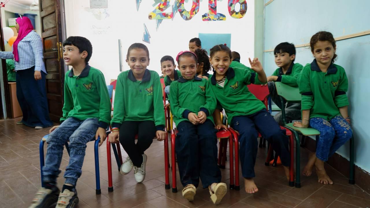 Children in Cairo at Educate Me