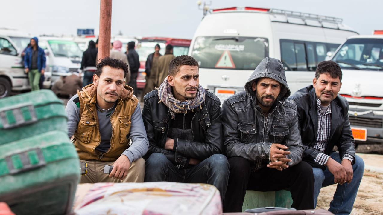 Egyptian labourers in Libya