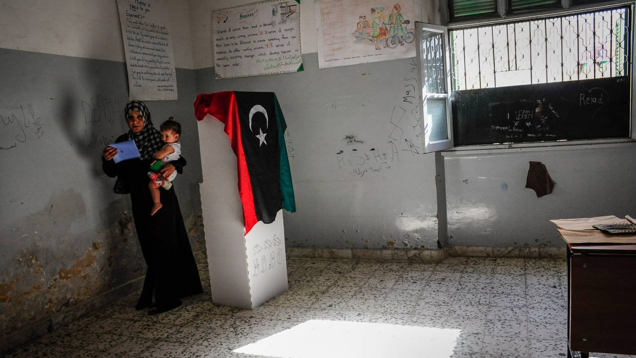 A period of hope: Libya in 2012, during municipal elections. The country is still searching for a political solution to the instability and conflicts which blossomed afterwards.