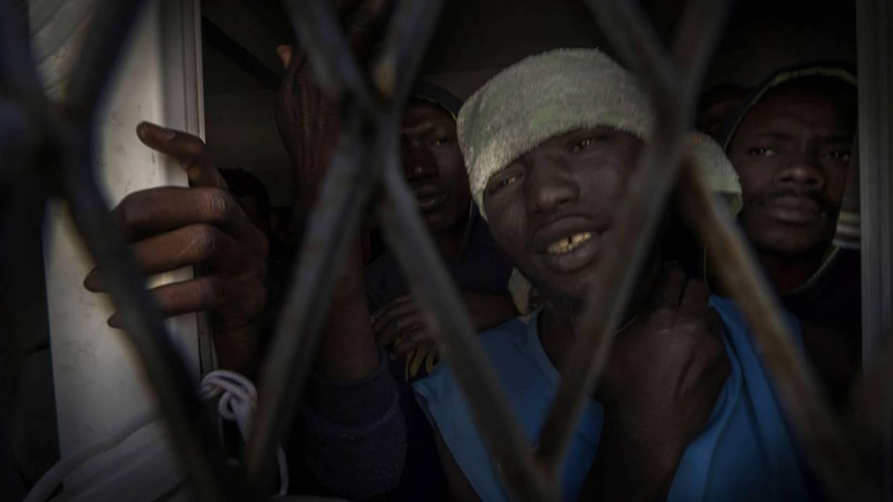 A migrant camp in Misrata