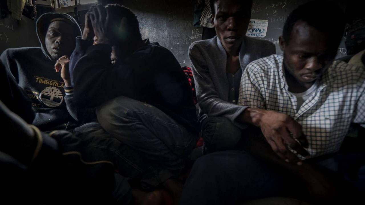 Despair in a detention centre in Libya.