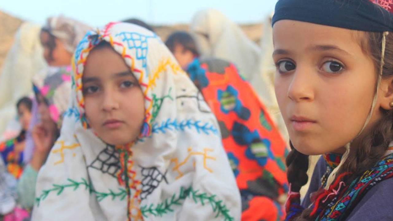 Amazigh children in traditional garb