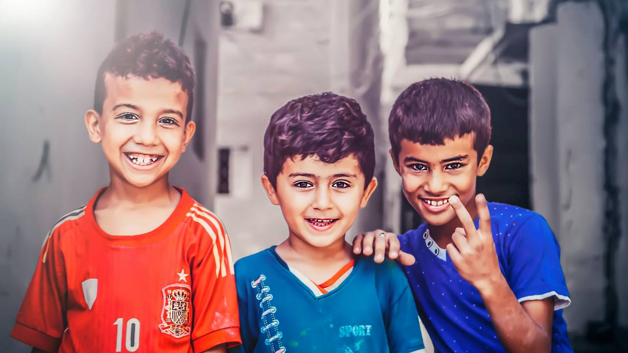 Children in the Old City of Tripoli
