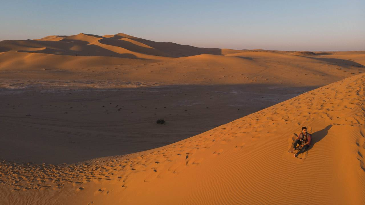 In the desert near the Algerian border where according to local tales, early Islamic conqueror Uqba ibn Nafi fought