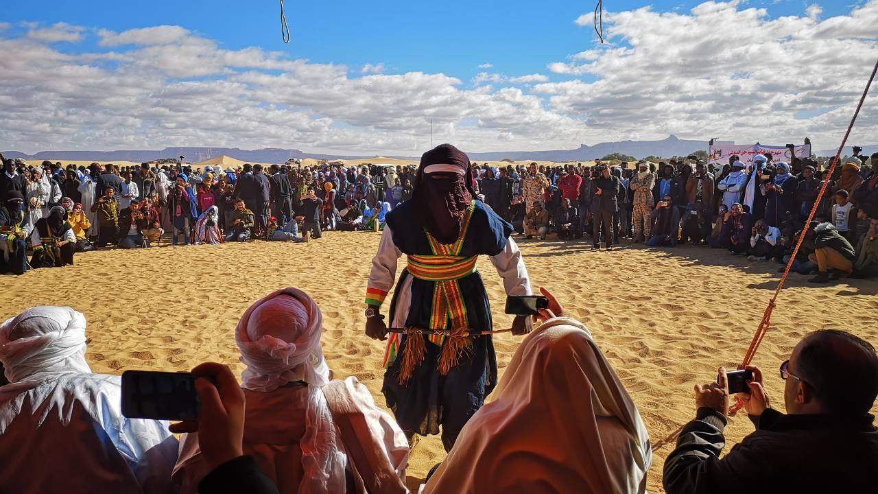 A Touareg folk dance performance
