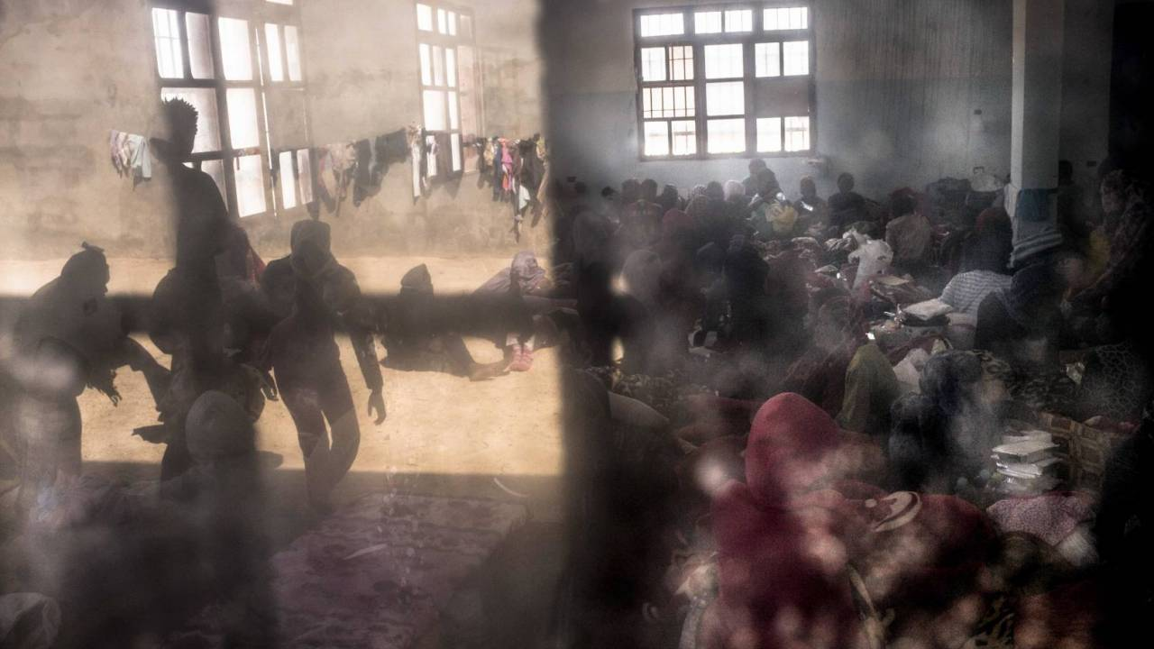 Overcrowded cells are used to detain huge numbers of people.