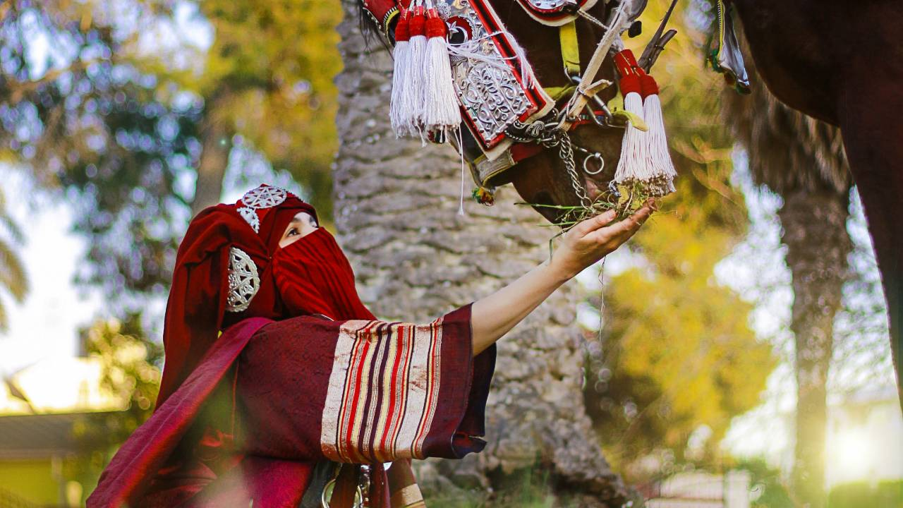 "A picture taken during the ""National Day of Traditional Dress"""