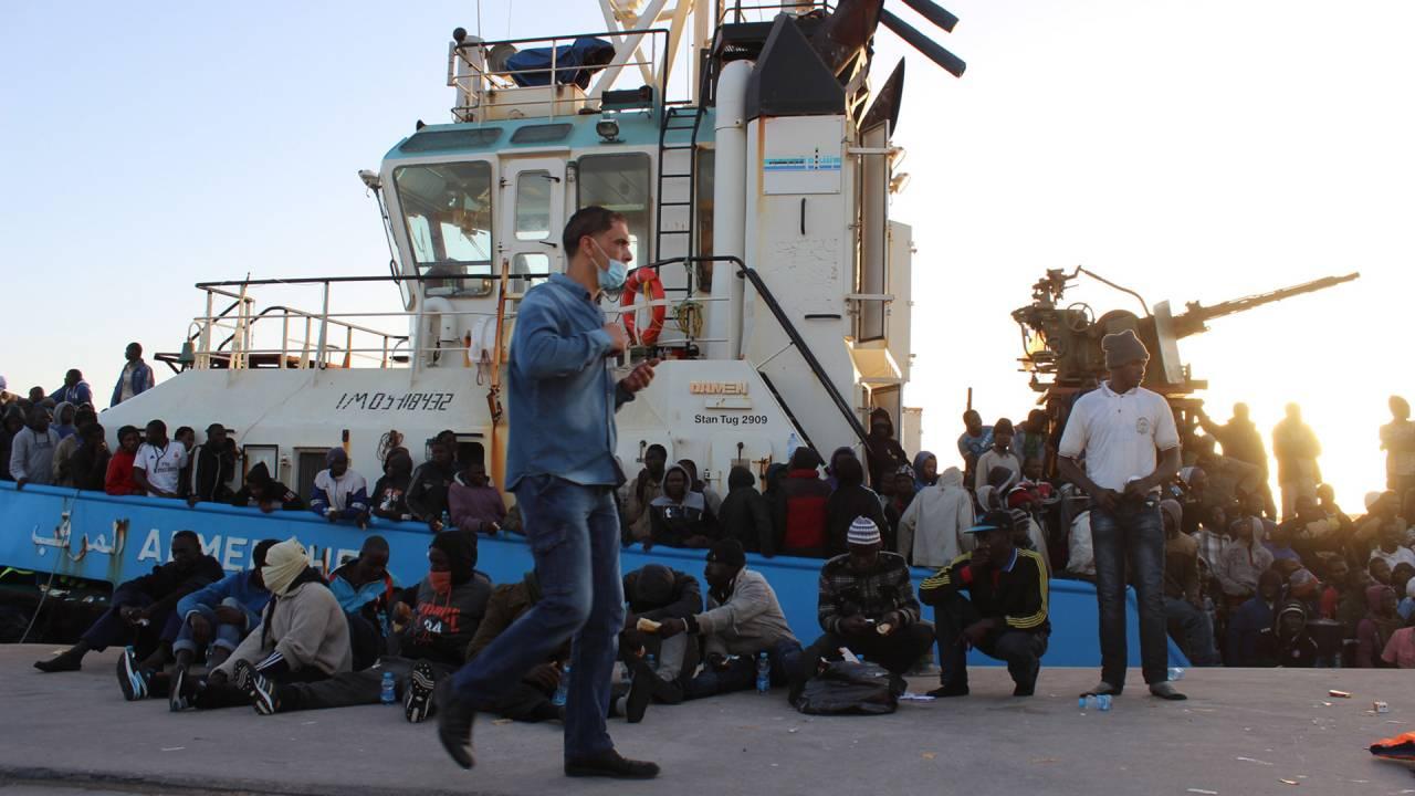 A tugboat in Misrata