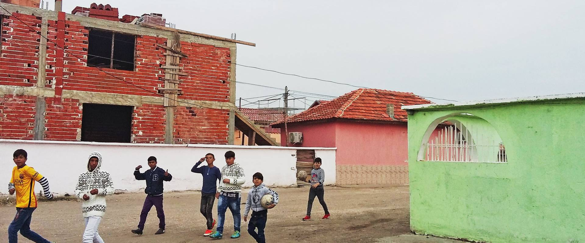 Youth near the Ebu Bekir mosque in Pazardjik.