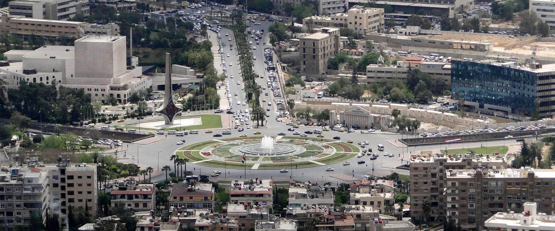 Umayyad Square in Damascus