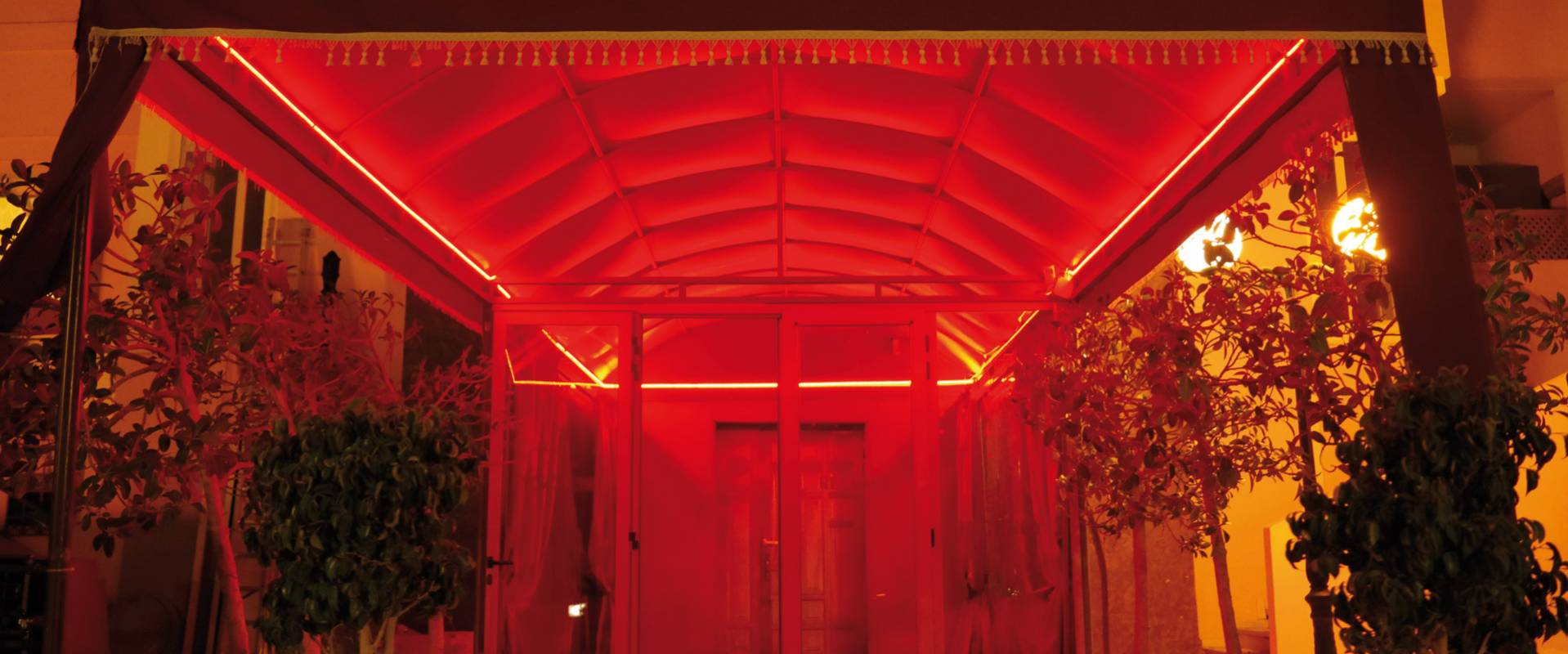 The entrance to the Layali Beirut club in Tunis.