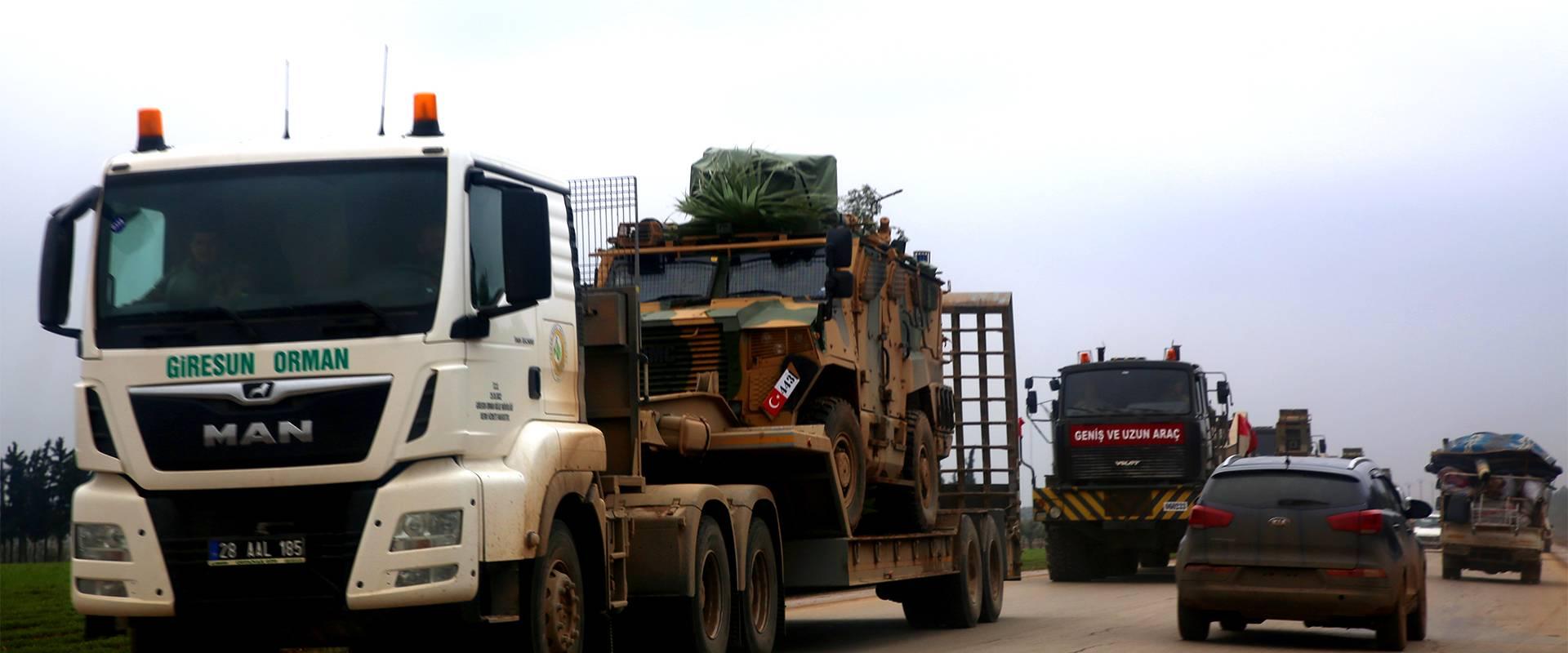 ارتال الجيش التركي في إدلب