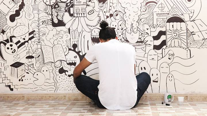 غرافيتي في مركز الشباب