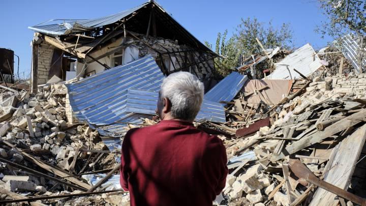 Zerstörtes Wohnhaus in Martuni