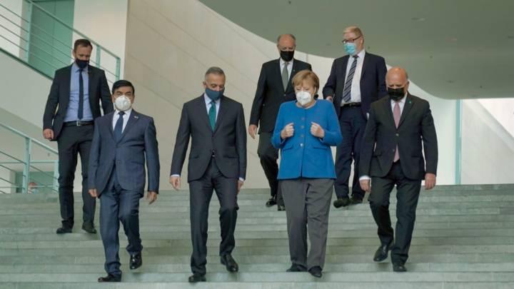 Mustafa Al-Kadhimi trifft Angela Merkel