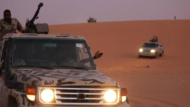 Libysche Milizen auf Patrouille