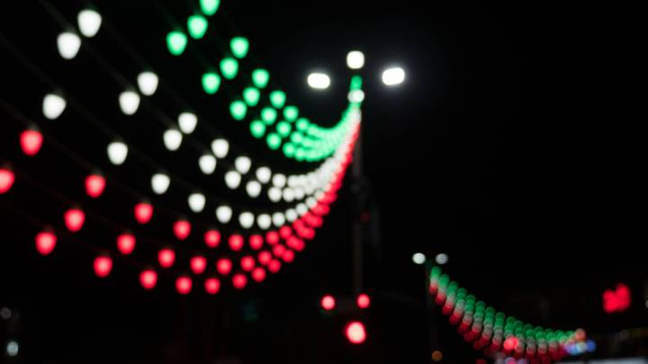Lichterkette in der iranischen Stadt Esfahan