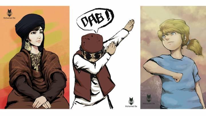Manga drawings from Libya