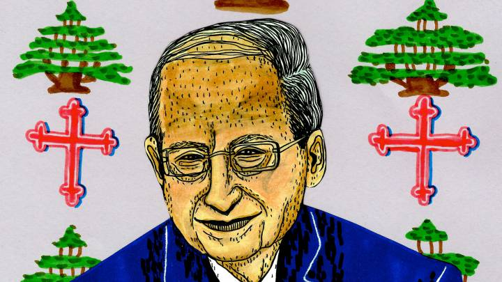Aoun cartoon