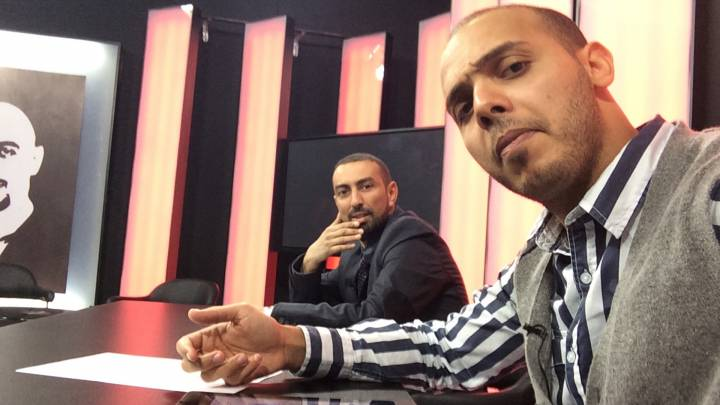 Mohammad Al-Zway and Ragab Benghuzzi in the Al Aesema station in Tripoli in 2013. They have since left Libya over concerns about their safety.