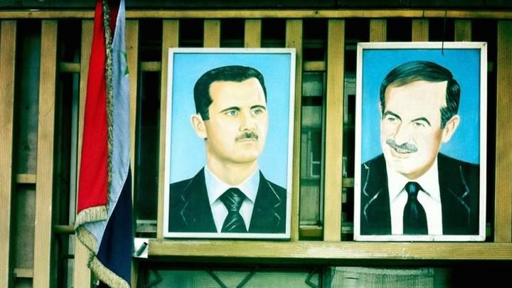 صورة حافظ و بشار الأسد