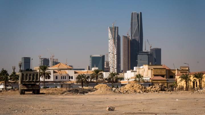 Eine Baustelle in der saudischen Hauptstadt Riad