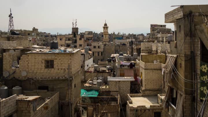 The Palestinian ghetto of Shatila in Beirut, Lebanon.