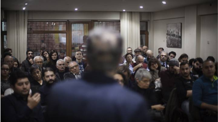 A public lecture at the Kocaeli Academy for Solidarity, founded by a group of Turkish academics who were fired from their official positions