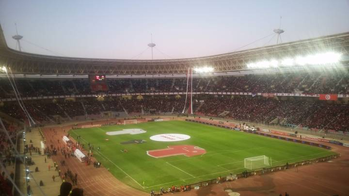 Stade Radès in Tunis at the Tunisia-Libya world cup qualification match.