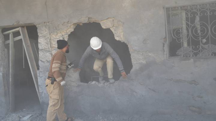 A White Helmets volunteer in Aleppo