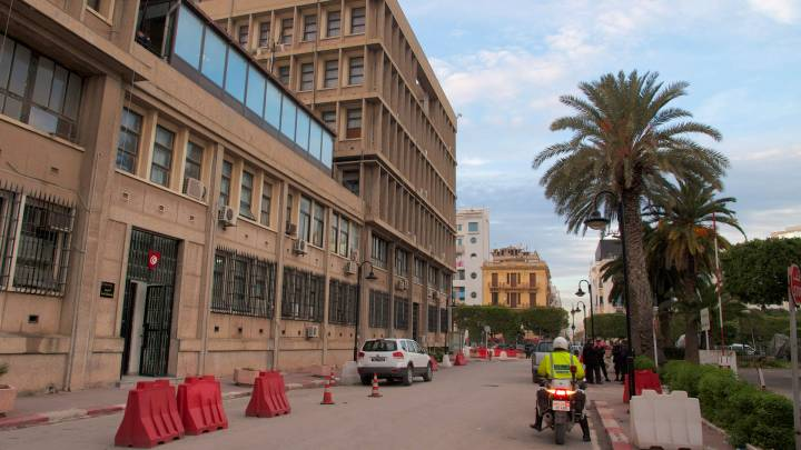 The Ministry of Interior in downtown Tunis.