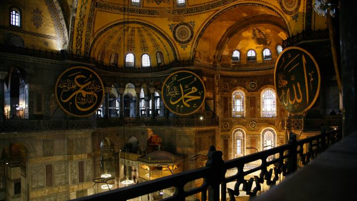 The Hagia Sophia. In its almost 1500 years of existence, it has been a a highly politicised symbol for different abrahamic religions and sects.