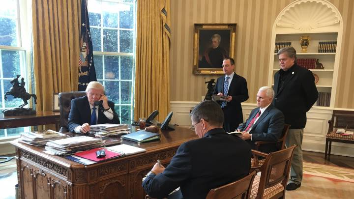 Trumps engste Berater im Oval Office