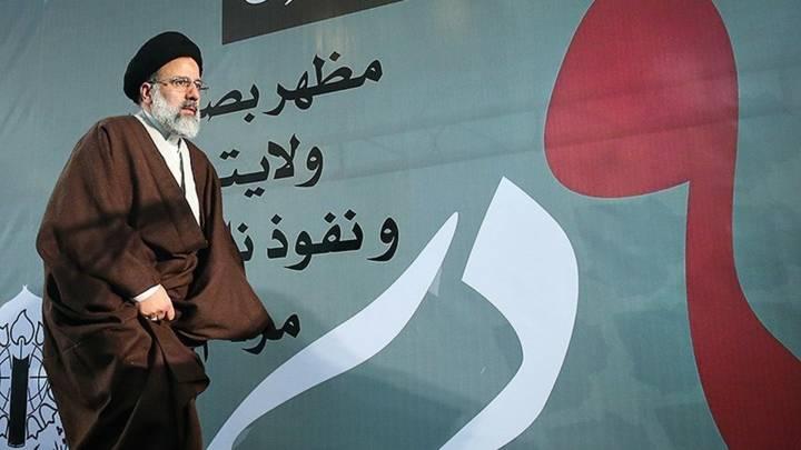 Präsidentschaftskandidat Ebrahim Raisi auf einer Wahlkampfveranstaltung