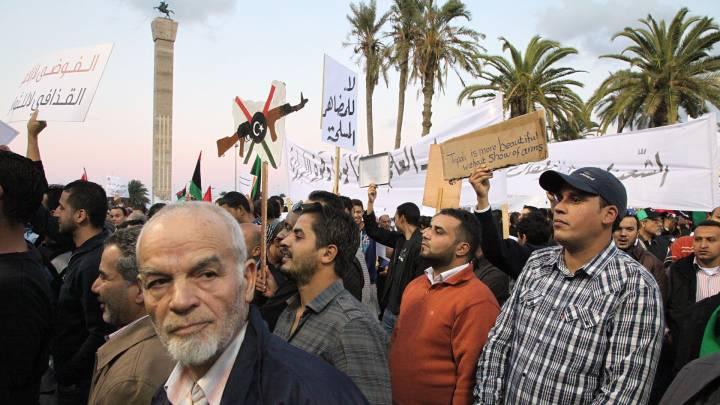 من المظاهرات الليبية في طرابلس