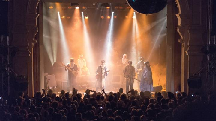 Tinariwen played at Heimathafen in Berlin.