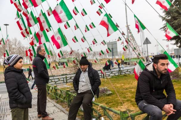 Parade in Teheran zum Jahrestag der Revolution in Iran