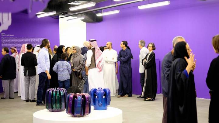 Exhibition opening in the gallery Athr in Jeddah.