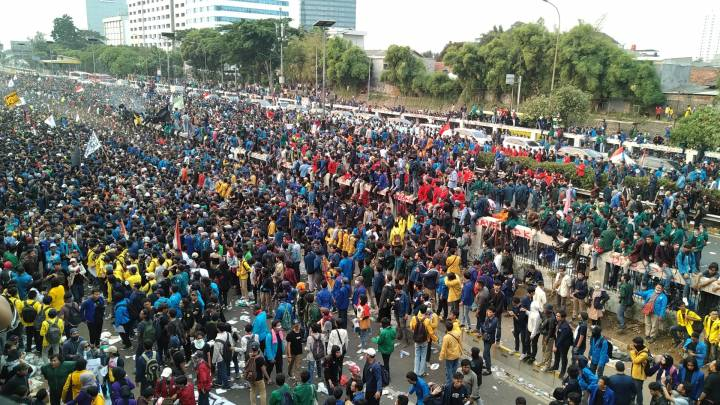 Massenproteste in Indonesien