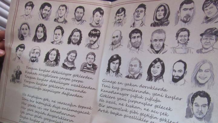 Sketches of those who died in Suruç appeared in Ozgur Genclik