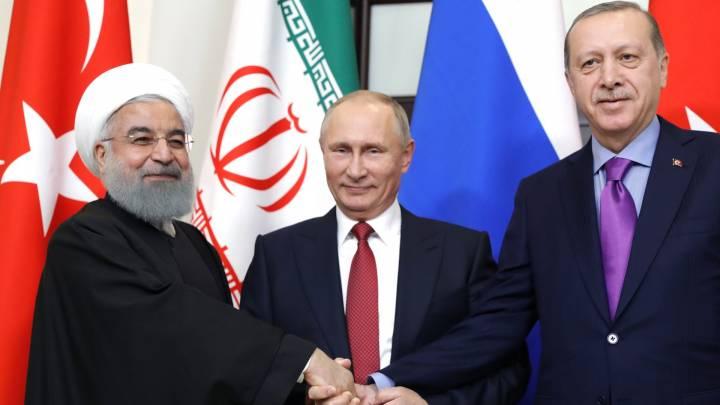 بوتين واردوغان وروحاني